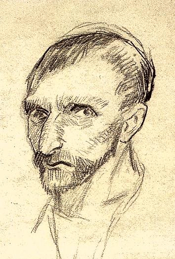 how to draw vincent van gogh self portrait