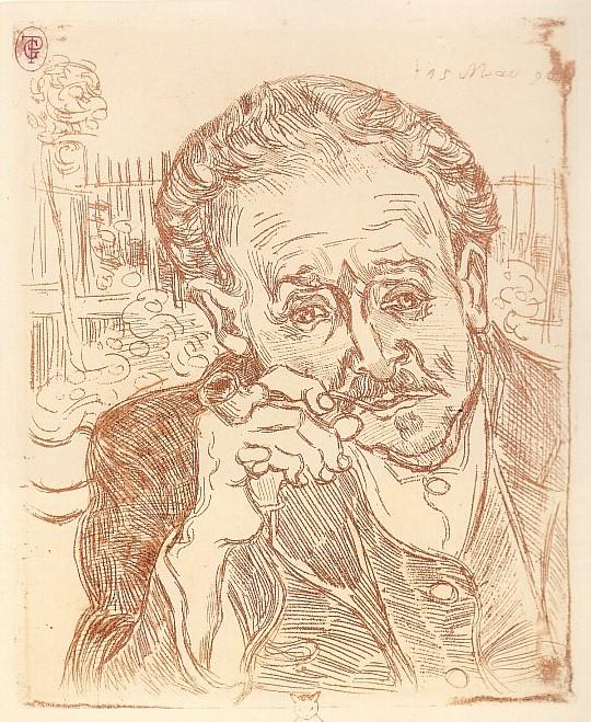 Vincent Van Gogh The Etching Portrait Of Doctor Gachet L Homme A