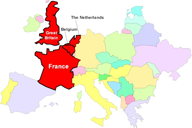 Map Of France And Britain ~ ODSEPATU