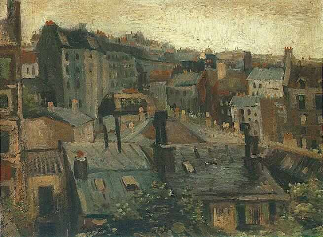 Vincent Van Gogh The Paintings View Of The Roofs Of Paris
