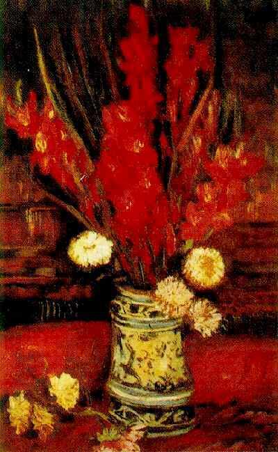 Vincent Van Gogh The Paintings Vase With Red Gladioli