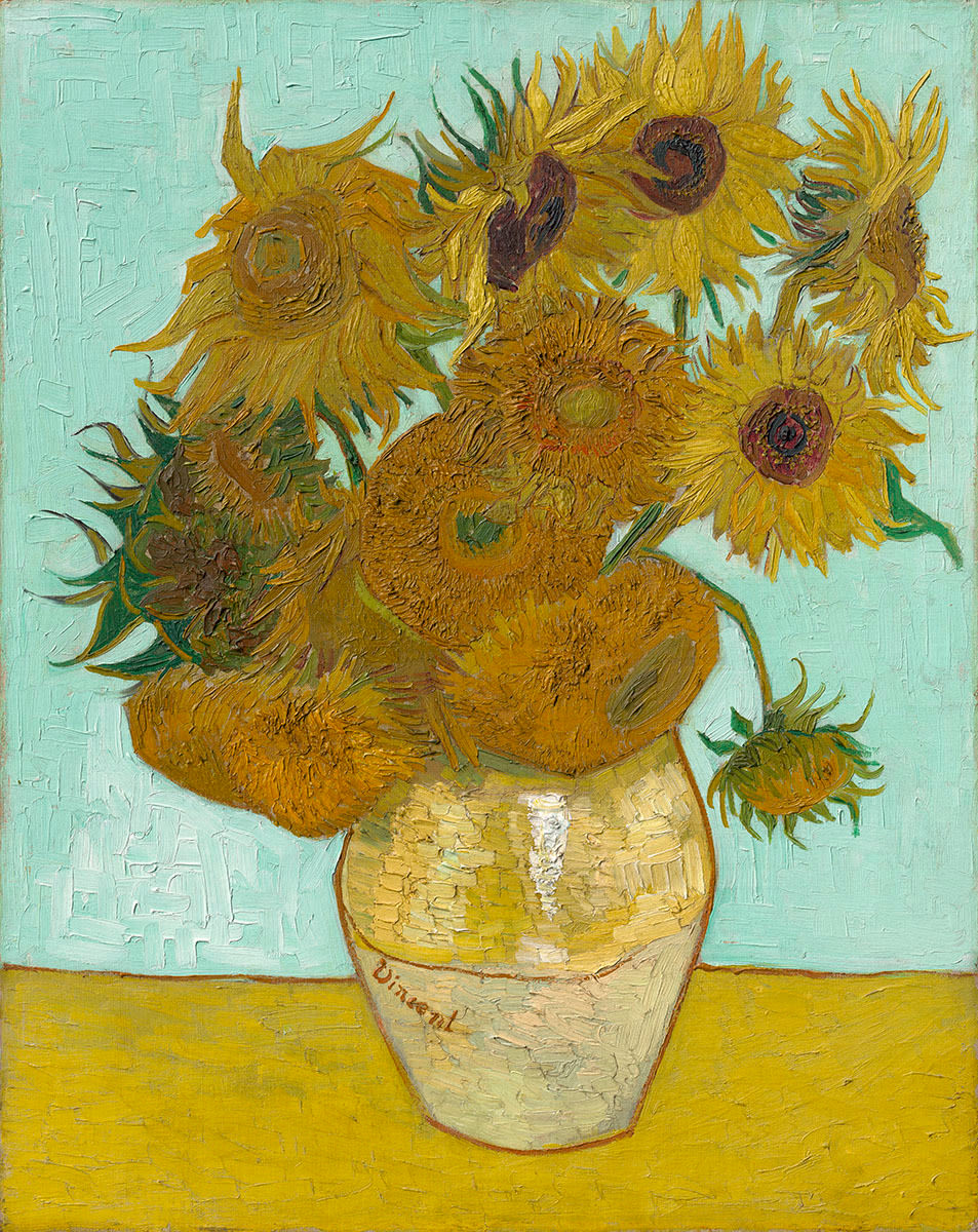 Vincent Van Gogh The Paintings Still Life Vase With Twelve