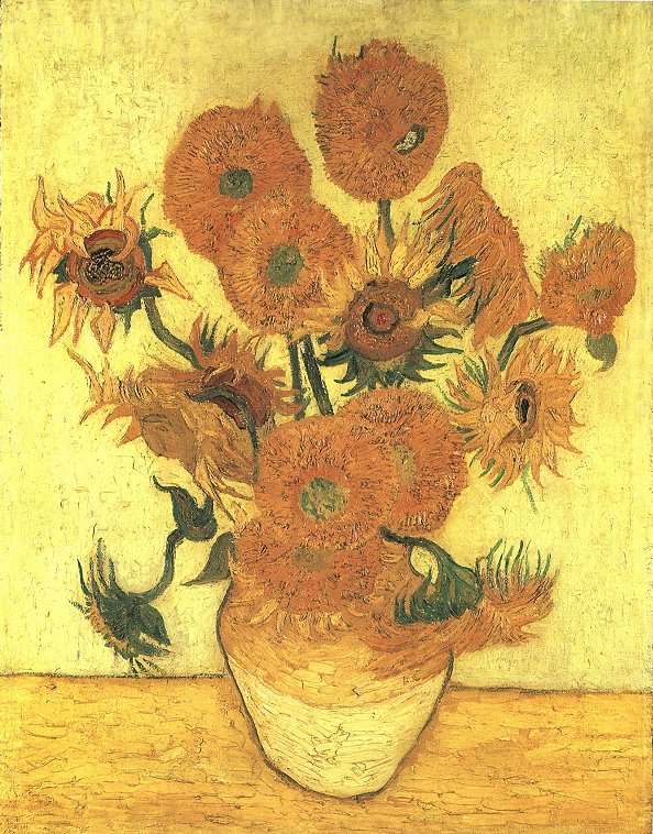 Vincent Van Gogh The Paintings Still Life Vase With Fourteen