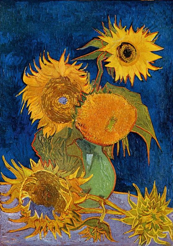 Vincent Van Gogh The Paintings Still Life Vase With Five Sunflowers