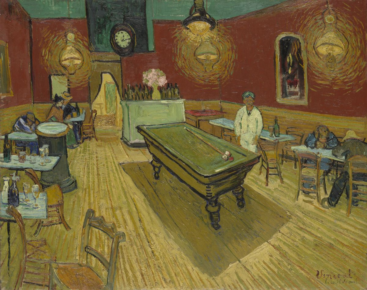 analysis of van gogh s night cafe Essay about vincent van gogh painting analysis :: 5  the potato eaters was one of van gogh's early works as he just  cafe at night vincent van gogh art.