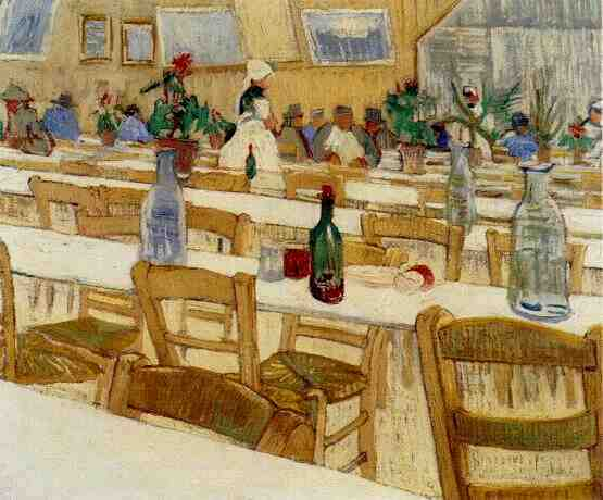 Vincent van gogh the paintings interior of