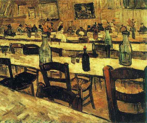 Vincent van gogh the paintings interior of a restaurant