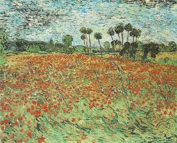 Vincent Van Gogh The Paintings Field With Poppies