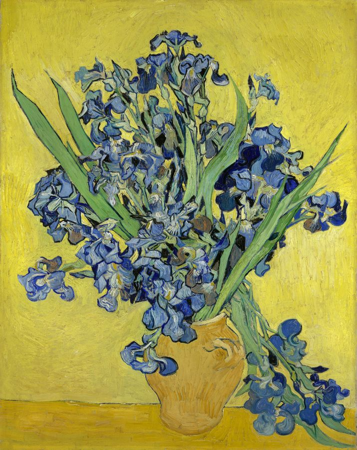 Vincent Van Gogh The Paintings Still Life Vase With Irises