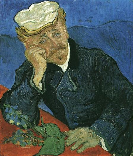 The portrait of Dr Gachet by Van Gogh in the Mus�e d'Orsay